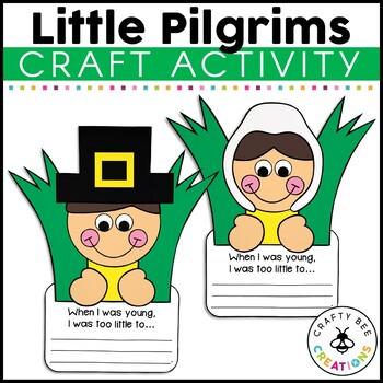 Little Pilgrims Cut and Paste