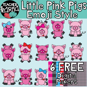 Little Pink Pigs Emoji Style: Emotions, Expressions, Emoti