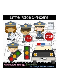 Little Police Officer Clipart Collection