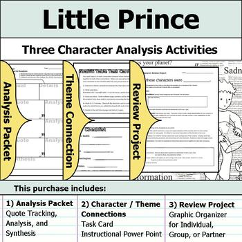 Little Prince - Character Analysis Packet, Theme Connections, & Project
