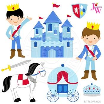 Little Prince Cute Digital Clipart, Prince Graphics