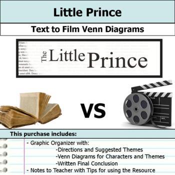 Little Prince - Text to Film Venn Diagram & Written Conclusion