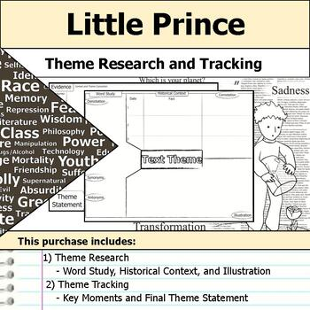 Little Prince - Theme Tracking Notes Etymology & Context Research