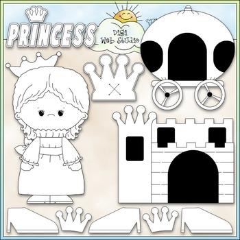 Little Princess 1 - Commercial Use Clip Art & Black & White Images