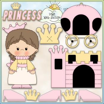 Little Princess 1 - Commercial Use Clip Art & Black & Whit