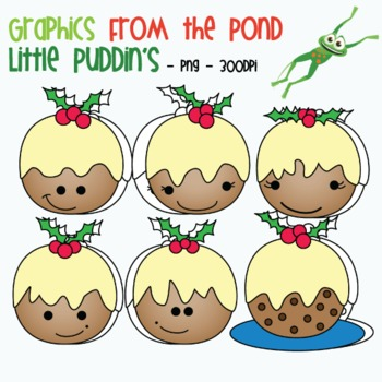 Little Puddin's - Christmas Pudding Clipart Graphics From the Pond