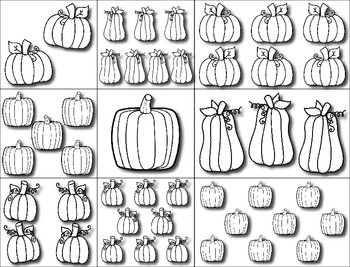 Little Pumpkins --- Interactive Counting Book --- Pumpkin Numbers *FREEBIE*