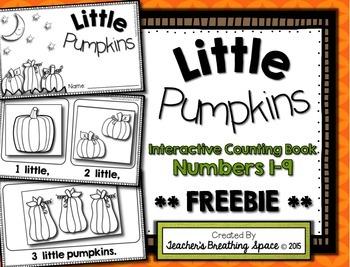Little Pumpkins --- Interactive Counting Book --- Pumpkin