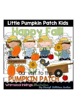 Little Pumpkin Patch Kids Clipart Collection