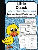 Little Quack Interactive Notebook ~ Reading Street Kindergarten