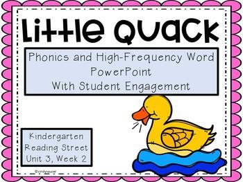 Little Quack, PowerPoint, Kindergarten, Unit 3, Week 2