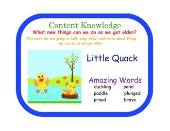 Little Quack Reading Street FlipChart