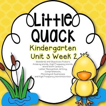 Little Quack Kindergarten Unit 3 Week 2