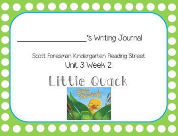 Little Quack Writing Journal (Kindergarten Reading Street