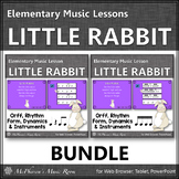 Spring Music Lesson ~ Little Rabbit Orff, Rhythm & Instruments {Bundle}