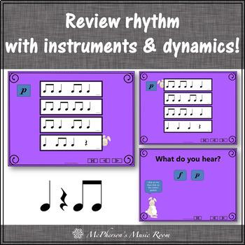 Little Rabbit: Orff, Rhythm, Form, Dynamics and Instruments (Eighth Notes)