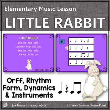 Spring Music Lesson ~ Little Rabbit Orff, Rhythm & Instruments {Eighth Notes}
