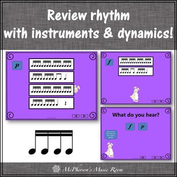 Little Rabbit: Orff, Rhythm, Form, Dynamics and Instruments (Sixteenth Notes)