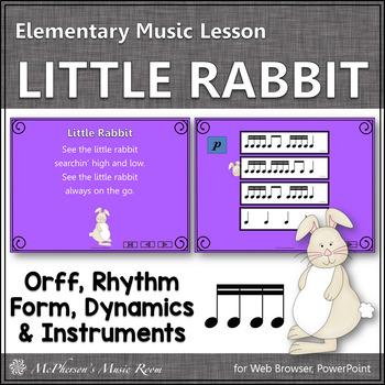 Spring Music Lesson ~ Little Rabbit Orff, Rhythm & Instruments {Sixteenth Notes}