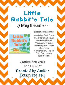 Little Rabbit's Tale Activities 1st Grade Journeys Unit 4, Lesson 20