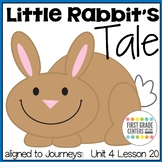 Little Rabbit's Tale aligned with Journeys First Grade Unit 4 Lesson 20