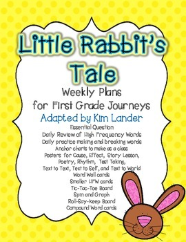 Little Rabbits Tale Journeys Lesson Plans and Supplemental