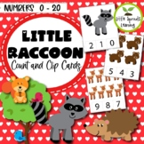 Little Raccoon Count and Clip cards  (Numbers 1-20)