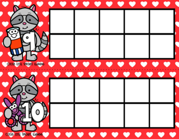 Little Raccoon Ten Frames (includes worksheet)