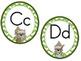 Little Raccoon Word Wall Headers (Green Chevron)