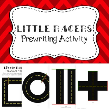 Little Racers: Prewriting Activity