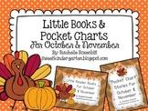 Little Reader Book & Pocket Chart Bundle for October and November