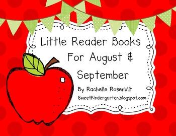 Little Reader Books for August & September