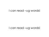 Little Reader:  I can read -ug words