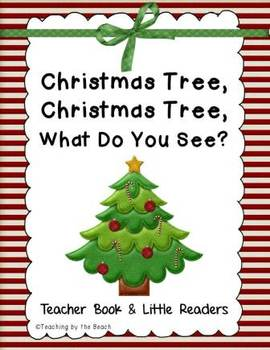 Little Reader With Teacher Book Christmas Tree Christmas