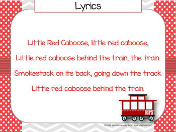 Little Red Caboose--A folk song with instrument accompaniment