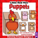 Little Red Hen Craft Activity | Printable Paper Bag Puppets