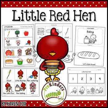 Little Red Hen Activities PreK