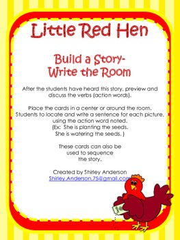 Little Red Hen- Build a Story (Write the Room)