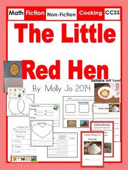 Little Red Hen CCSS Fiction and Non-Fiction Unit