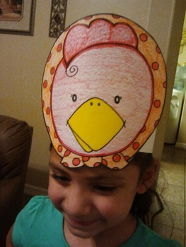 Little Red Hen Character Hat Patterns