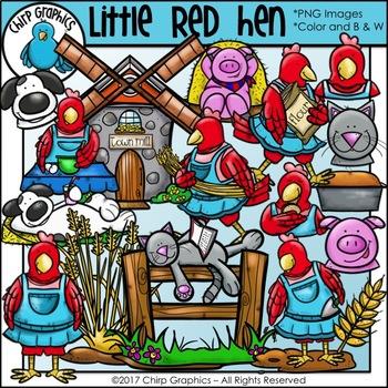 Little Red Hen Clip Art Set - Chirp Graphics