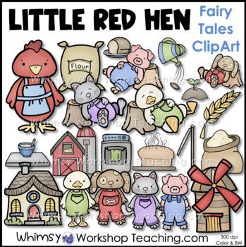 Little Red Hen Clip Art - Whimsy Workshop Teaching