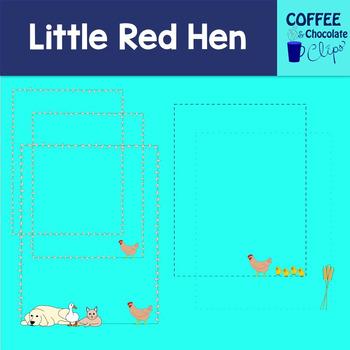 Little Red Hen Clipart
