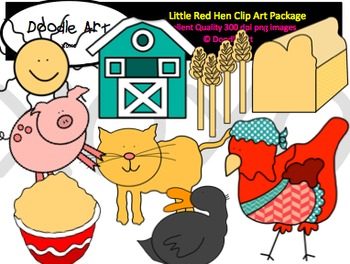 Little Red Hen Clipart Pack
