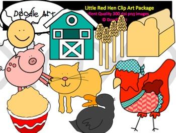Little Red Hen Clipart Pack