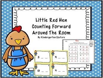 Little Red Hen Count Forward Around The Room