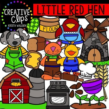 Little Red Hen {Creative Clips Digital Clipart}
