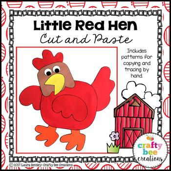 Little Red Hen Cut and Paste