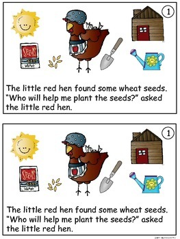 A+ Little Red Hen D-6 Guided Reading-Book, Lesson Plan,Assessments