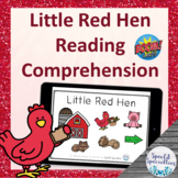 Little Red Hen Fairy Tales Reading Comprehension BOOM Cards™